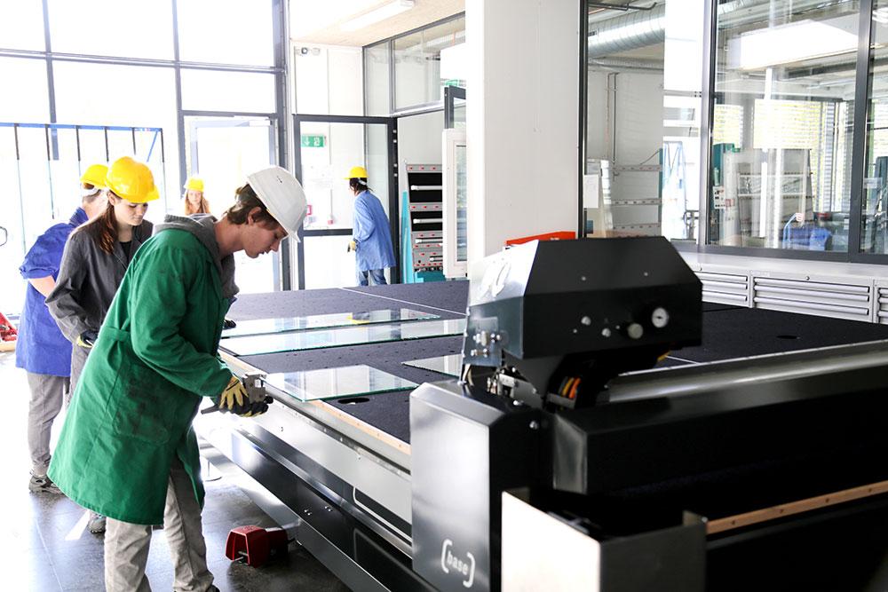 LiSEC mašina za sečenje stakla u školi HTL Kramsach