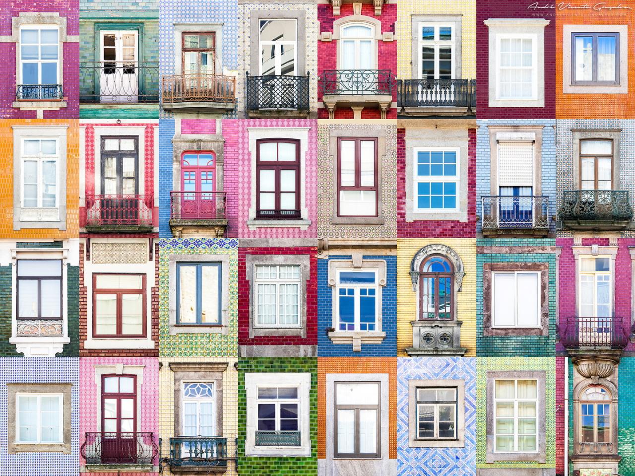 Kolaž prozora fotografa Andre Vincente Goncalves