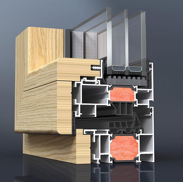 Elvial Xclusive 87i2 Aluminijum-drvo