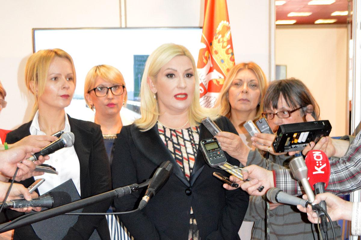 Sajam građevinarstva 2016 - ministarka Zorana Mihajlović