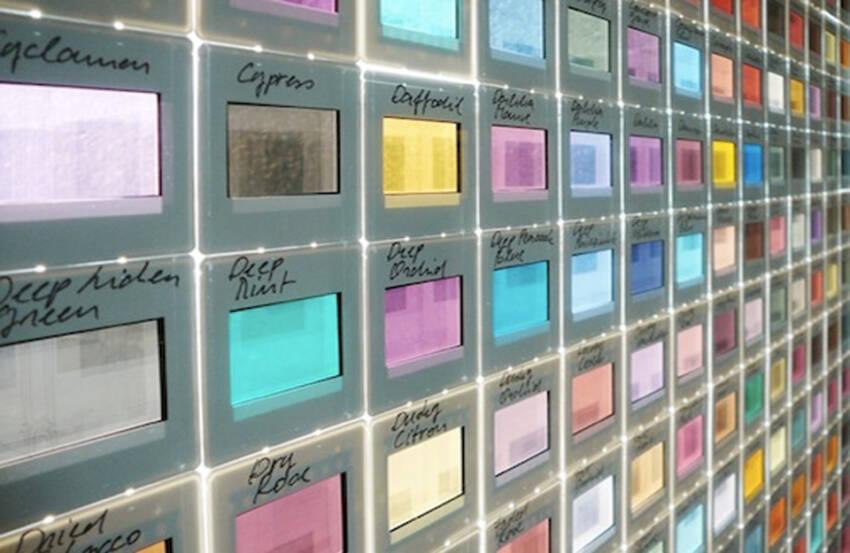 Transparentni flmski slajdovi u različitim nijansama