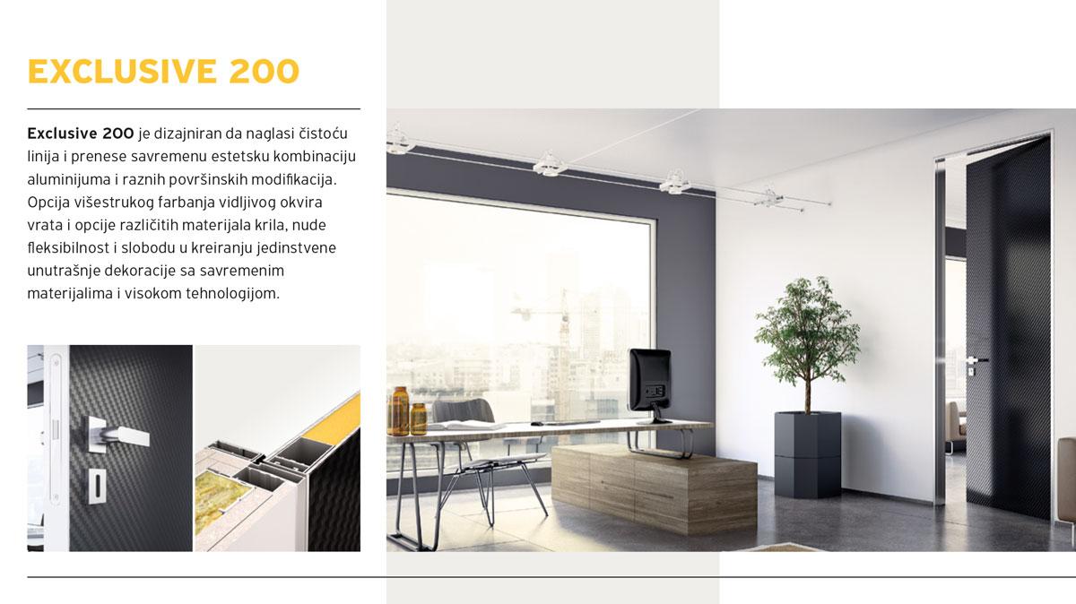 Alumil Interior vrata - Exclusive 200