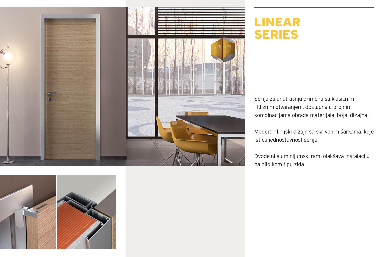 Alumil Interior vrata - Linear series