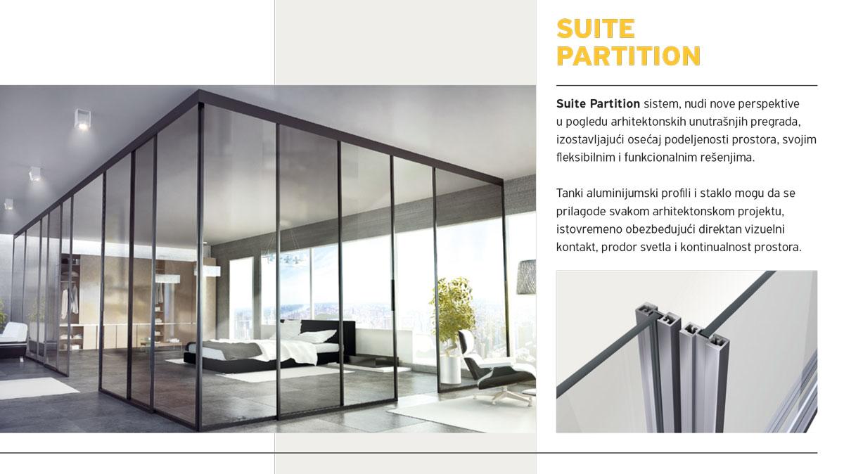 Alumil Interior vrata - Suite Partition
