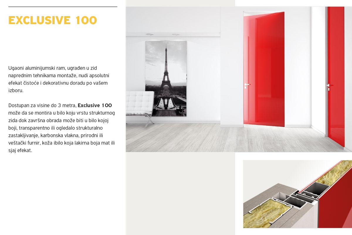 Alumil Interior vrata - Exclusive 100
