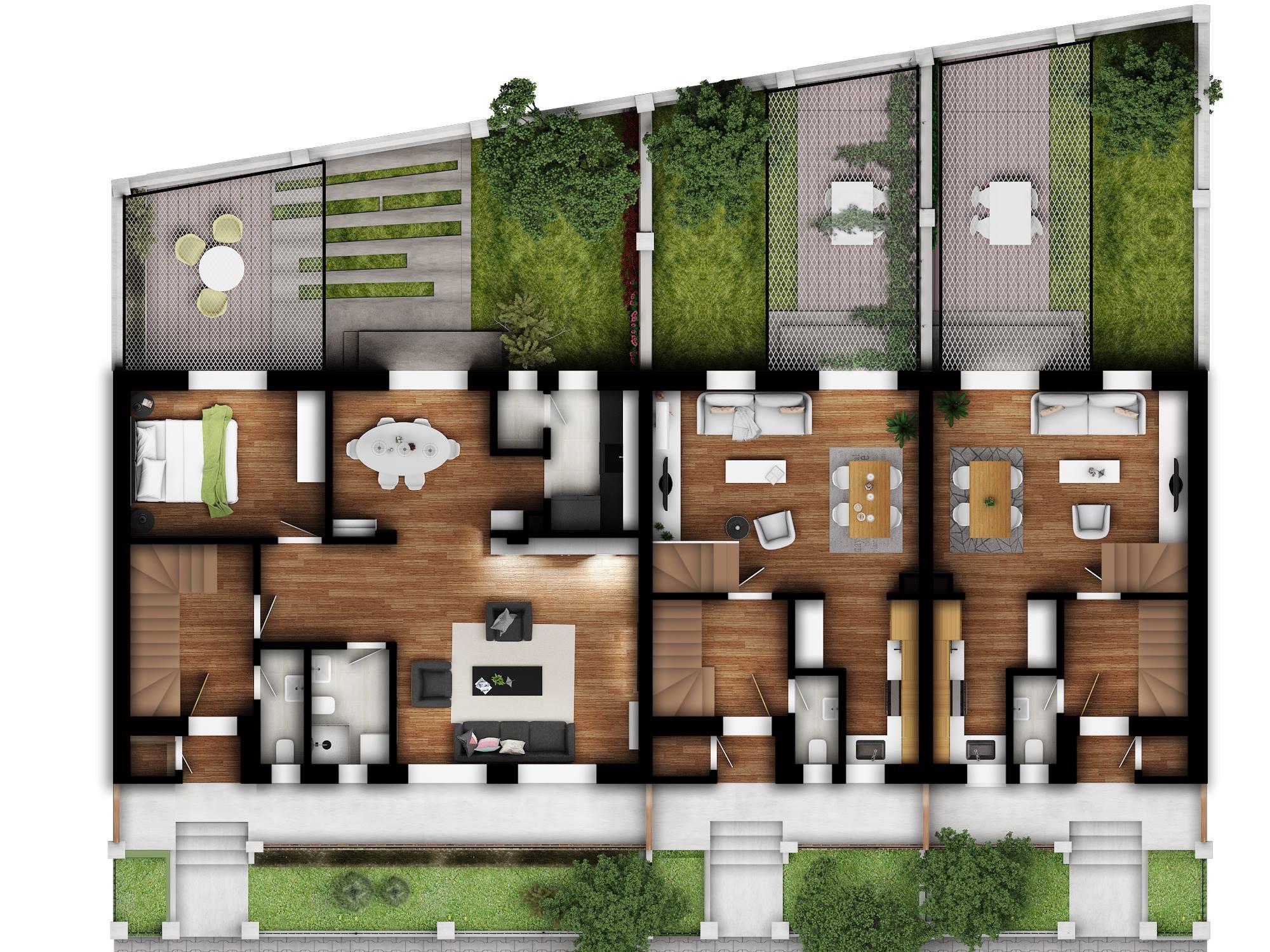 stambeni objekti  veličine od 80 do 160 m²