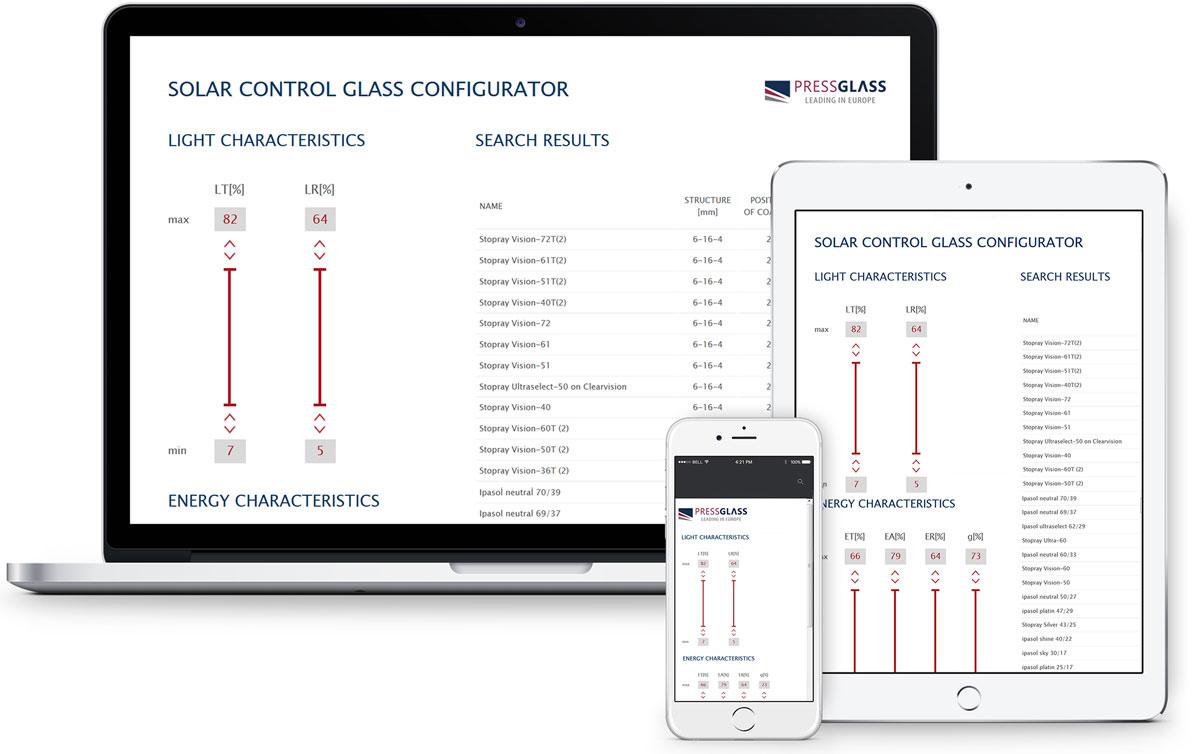 PRESS GLASS konfigurator