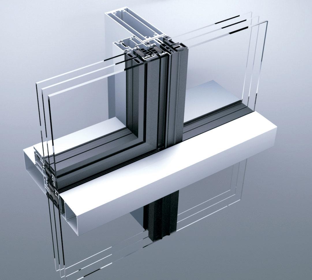 Foto: Tehnomarket d.o.o. - Aluminik CS55 kombinovana fasada