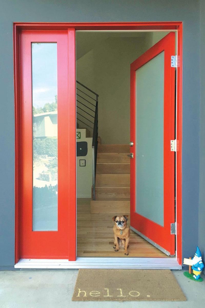 Akcentovanje vrata nekom jarkom bojom