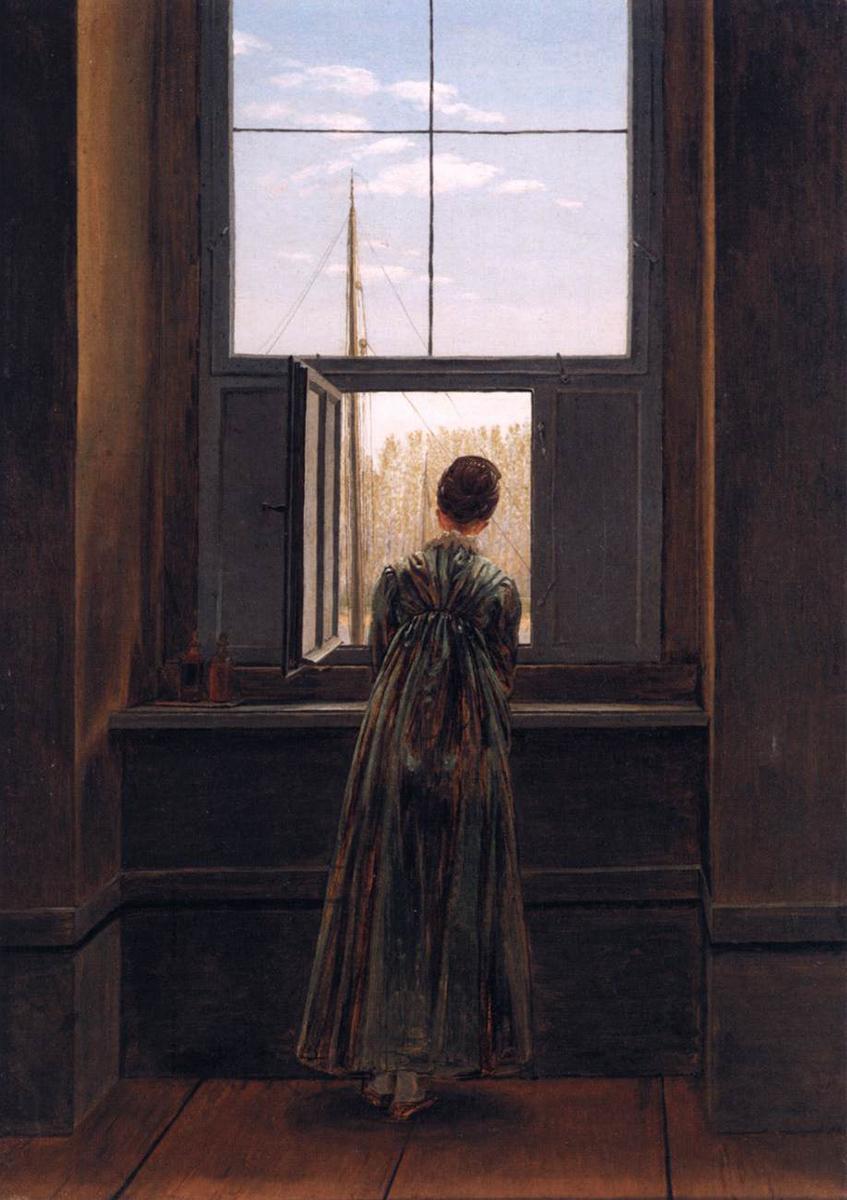 Umetnik - Caspar David Friedrich, Woman at a Window, 1822