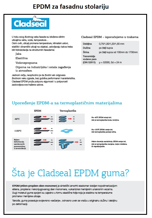 EPDM za fasadnu stolariju