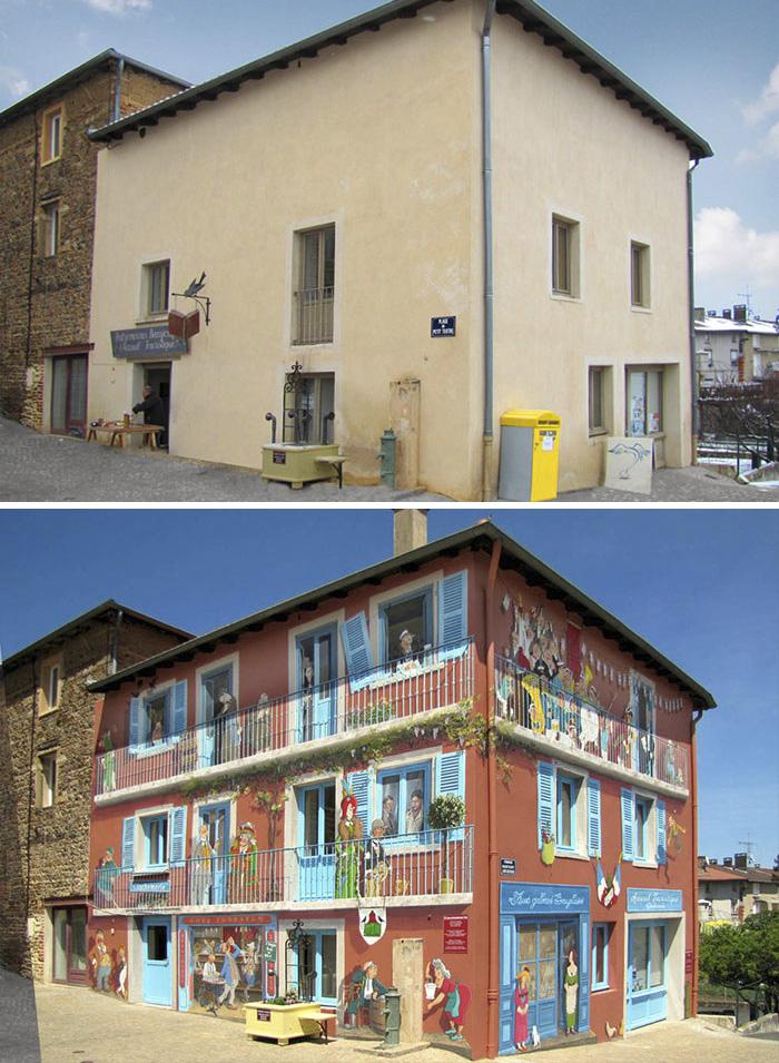 Patrick Commecy ulična umetnost, murali na fasadama