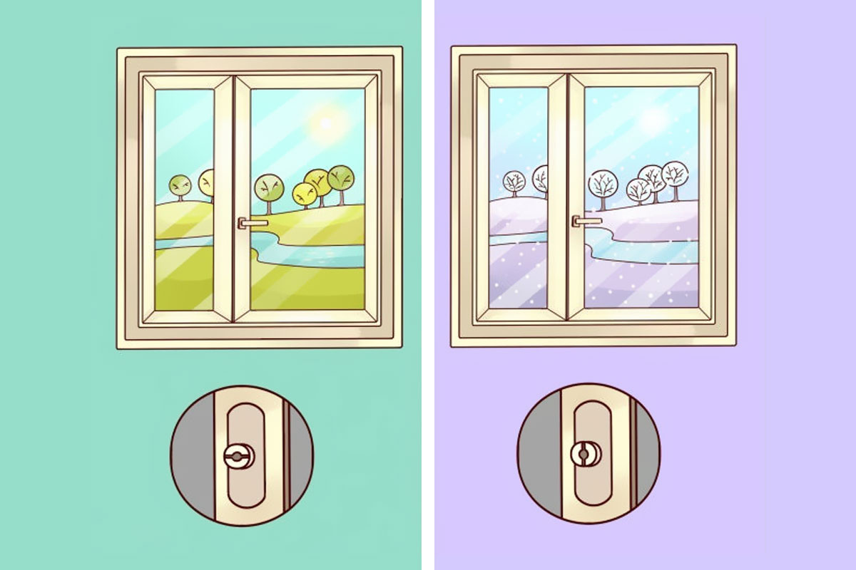 U različitim godišnjim dobima, treba promeniti «režim» na prozorima