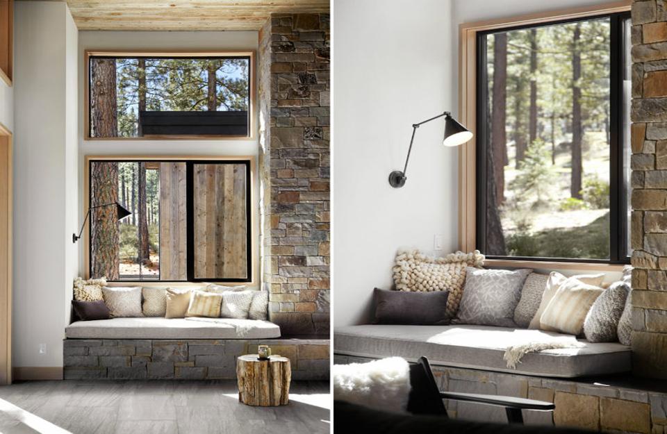 Moderan dizajn sedišta kraj prozora