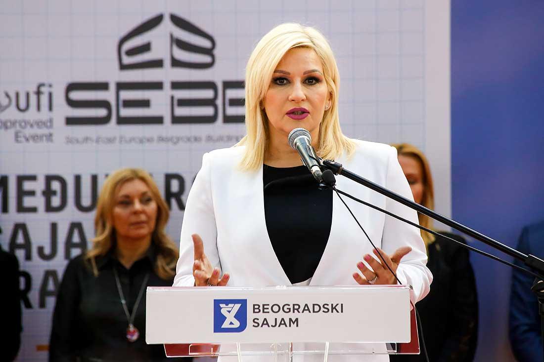 43. sajam građevinarstva otvorila je resorna ministraka Zorana Mihajlović