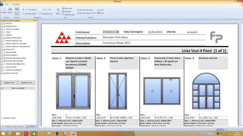 FP Suite je program za projektovanje i proračunavanje vrata i prozora