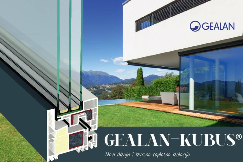 Jedan od vodećih evropskih proizvođača sistema za prozore i vrata predstavlja svoj novi prozorski sistem GEALAN-KUBUS®