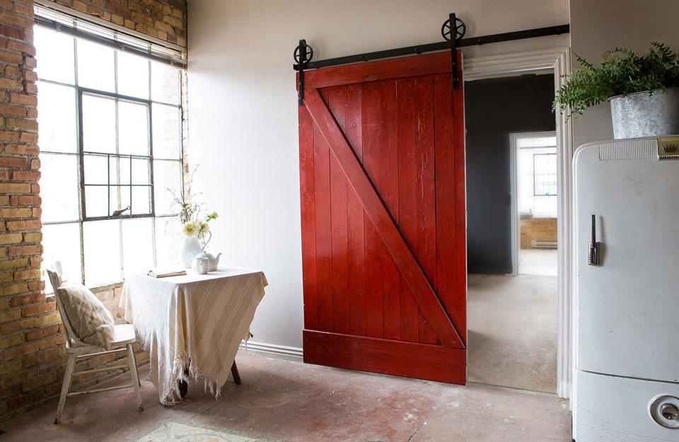 Obojena klizna ambar vrata