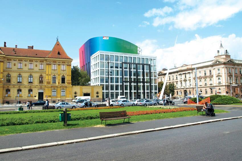 Zgrada muzičke akademije u Zagrebu