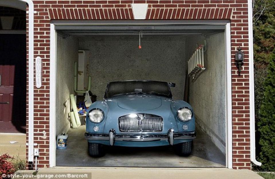 Print na garažnim vratima
