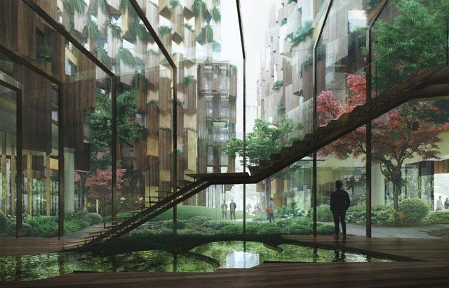 """Vrt će biti postavljen između dva bloka hotela, glavnog hotela u obliku slova U i odvojenog hostela za mlade pod imenom """"Slo Living"""""""