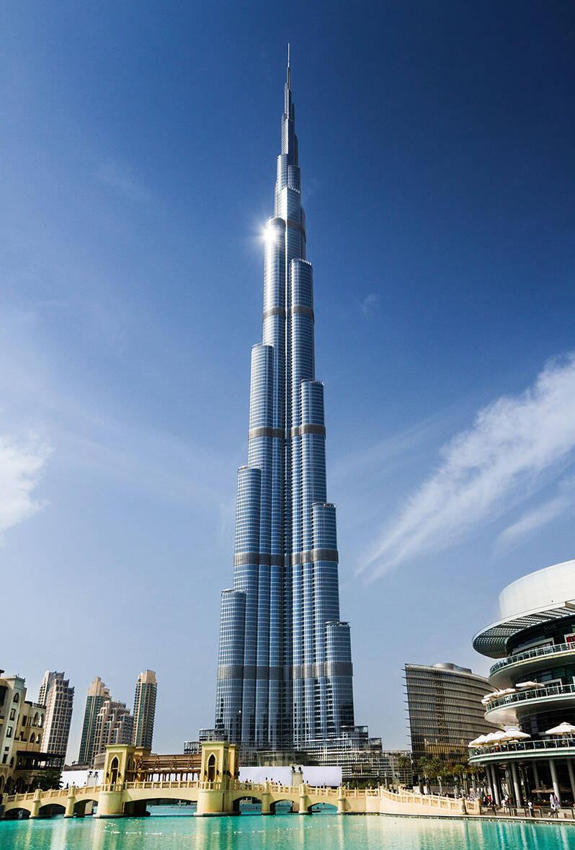 Moderne fasade - Burj Khalifa, Dubai
