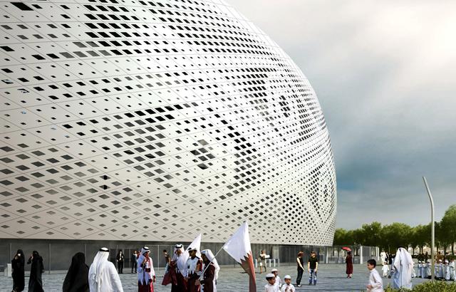"Stadion ""Al Thumama"" (preuzeto sa www.dezeen.com)"