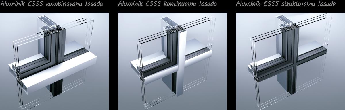 Tehnomarket d.o.o. - Aluminik CS55 staklena fasada