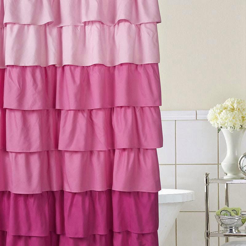 Zavese za kupatilo - Ombre tehnika