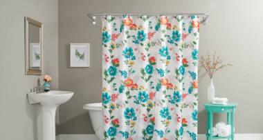 Zavese za kupatilo - cvetni motivi