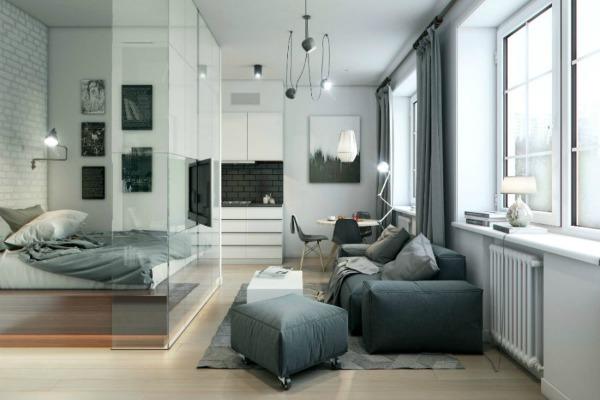 """Stakleni """"zidovi"""" najčešće se koriste da odvoje spavaću sobu od ostatka prostorije"""