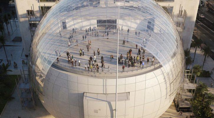 Postojeći objekat biće povezan s novom sferičnom zgradom putem tri staklena mosta