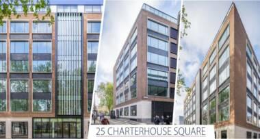 """Revitalizacija """"25 CHARTERHOUSE SQ"""" poslovnog objekta u Londonu sa staklom kompanije PRESS GLASS"""