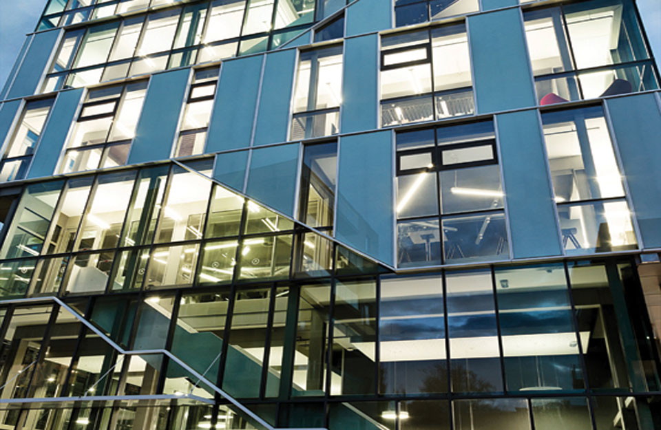 Detalj moderne fasade