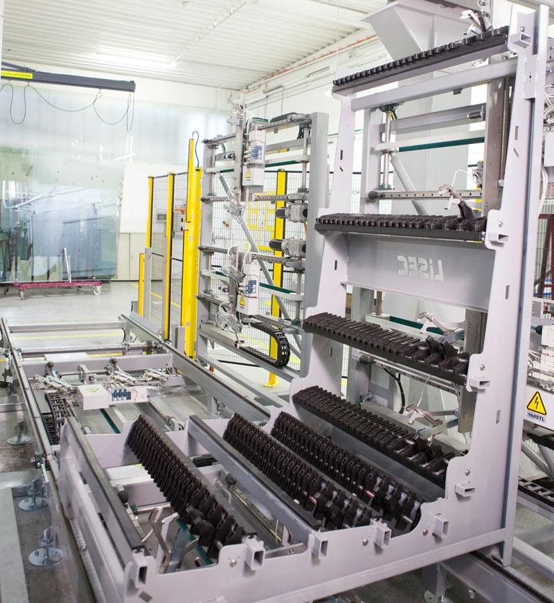 Mobilna bafer jedinica sa ručnim ili automatskim ulaganjem, sušenjem i transportom IZO staklenih jedinica