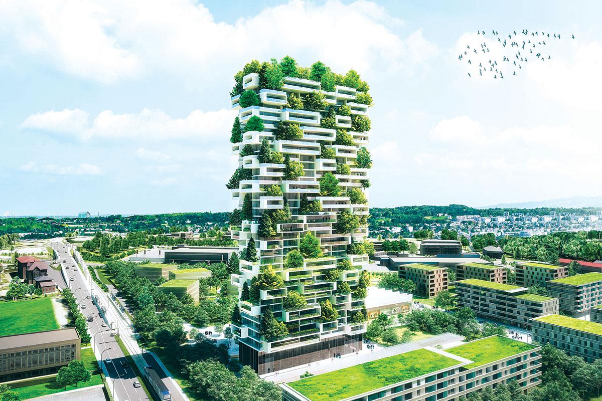 """Zelene fasade - Projekat: """"Vertical forest"""", arhitekta Stefano Boeri, Švajcarska"""