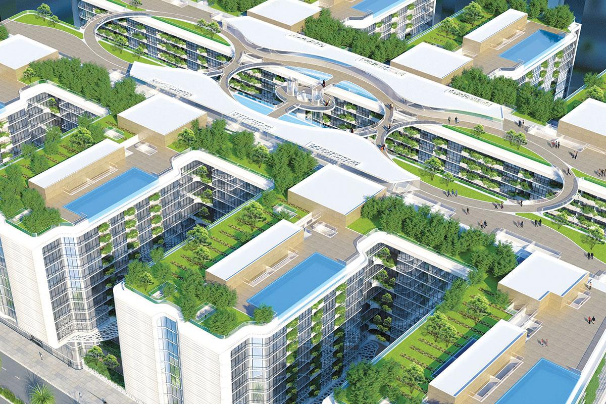"""Zelene fasade - Objekat """"The Gate"""", arhitektonski biro """"Vincent Callebaut Architectures (VCA)"""", Kairo"""