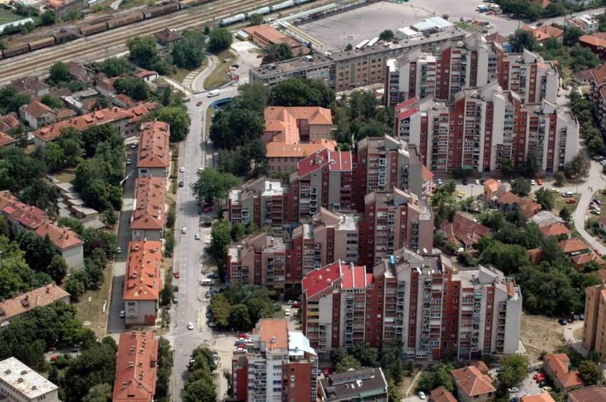 Izgled zgrada u Jagodini