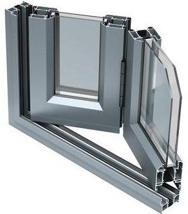BSF70 aluminijski profil za ostakljivanje velikih izlaznih površina s harmo-otvaranjem