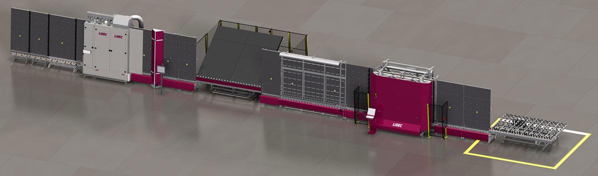 LiSEC FitLine 4 mašina za proizvodnju IZO stakla