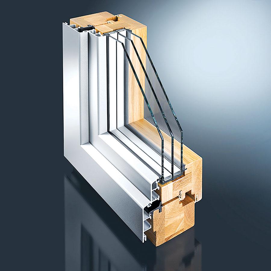 Aluminijum-drvo kombinacija prozorskih profila