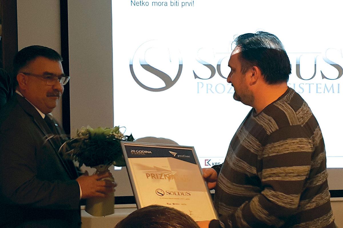 Dodjela priznanja tvrtki Soldus