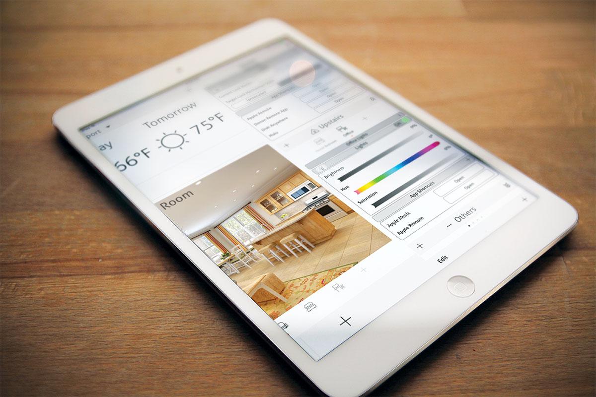 Pametne kuće - tablet uređaj za upravljanje
