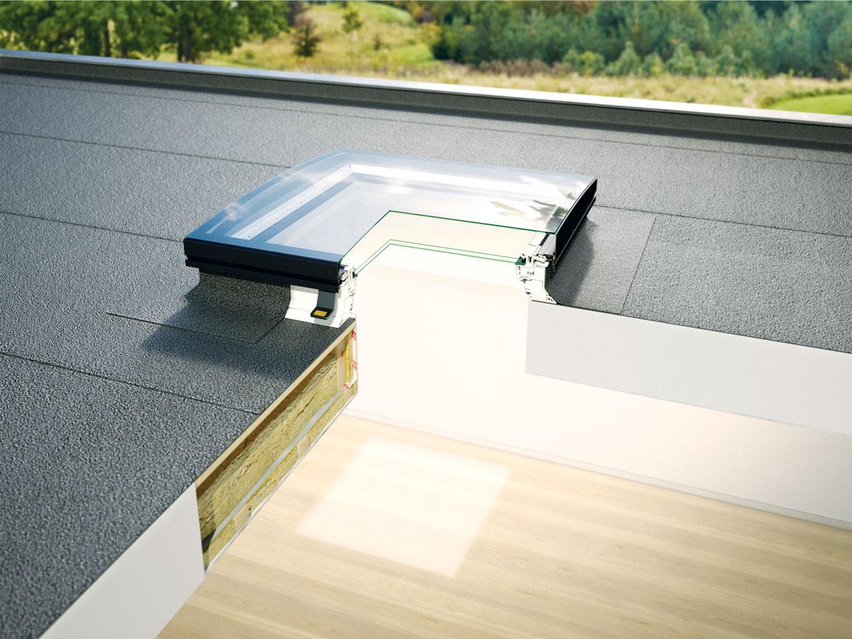 VELUX prozor za ravni krov sa zakrivljenim staklom