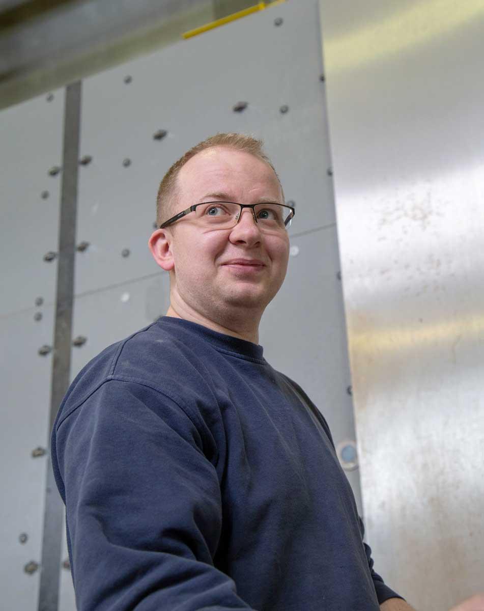 Jozef Frisik, tehnički menadžer u Interpan kompaniji