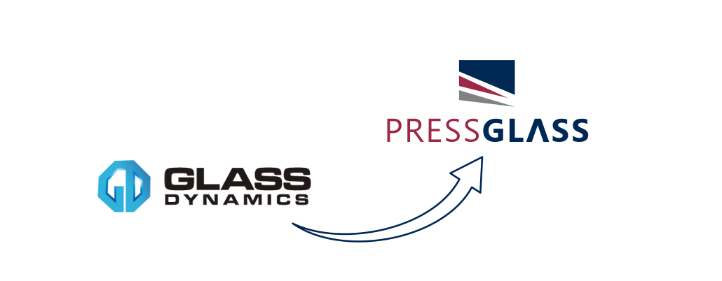 Glass Dynamics to PRESS GLASS logo
