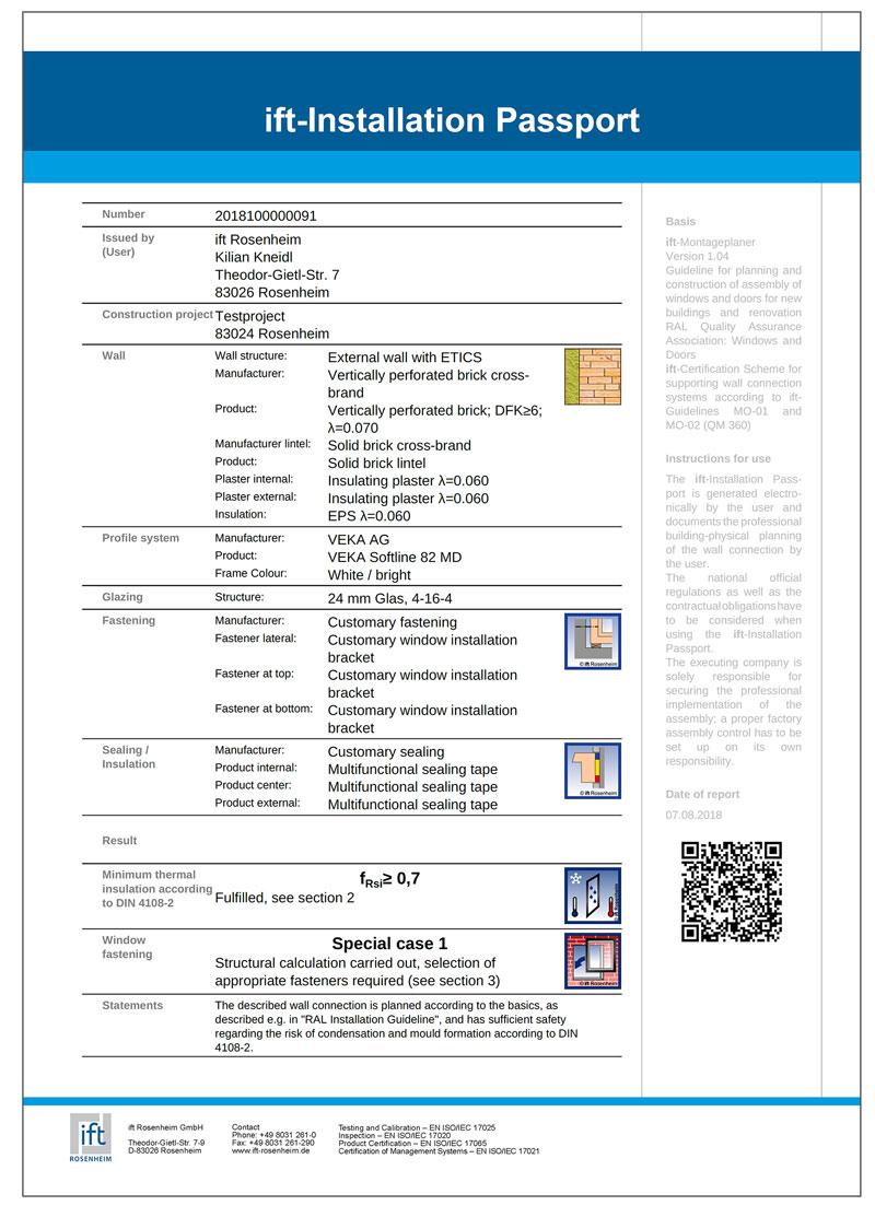 Ift pasoš za planiran projekat