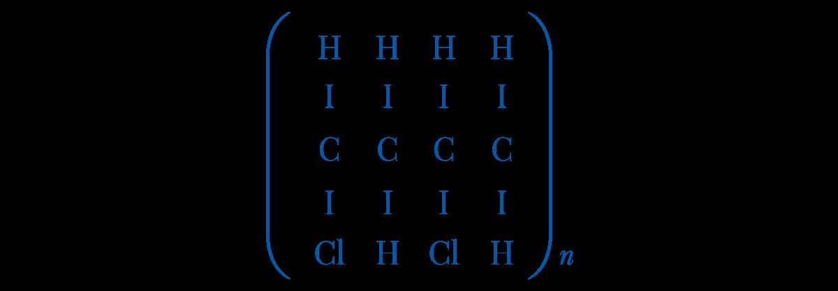 Slika 2 Hemijska struktura PVC-a