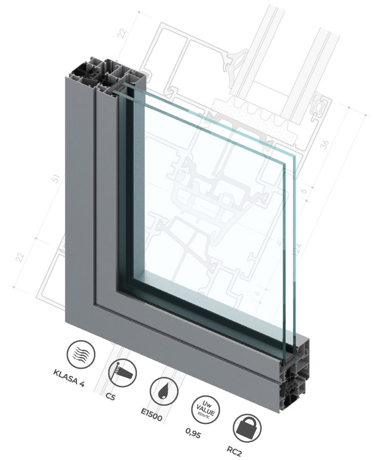 Nova serija profila za prozore i vrata C67K