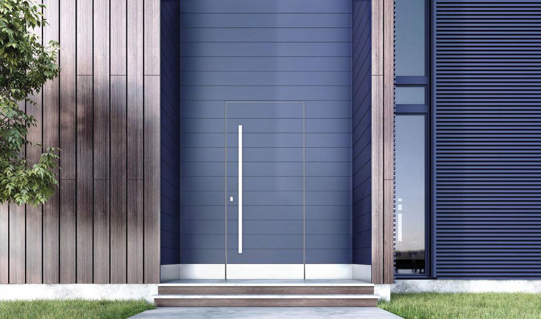TEHNI ulazna vrata sa skrivenim krilom PUZZLE sistem alu panela